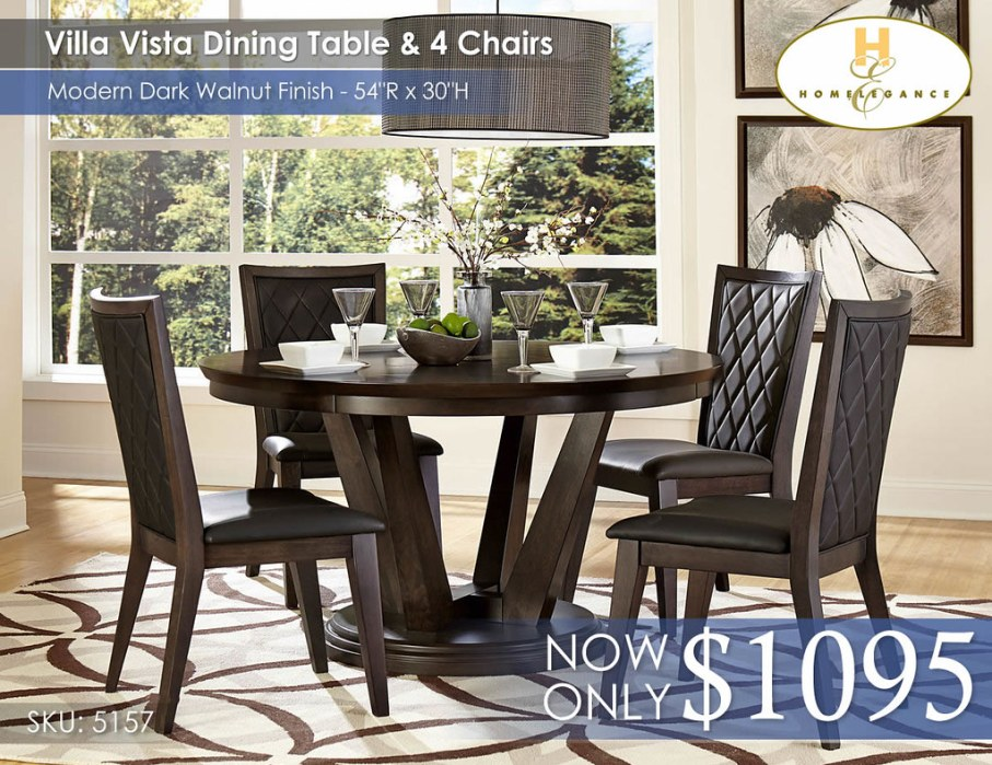 Villa Vista Dining Table and 4 Chairs 5157-54