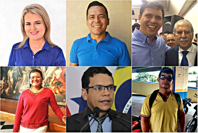 Holofotes em 6 VIPs. Maurício, Ney, Almir, Valdir, Raquel e Lana