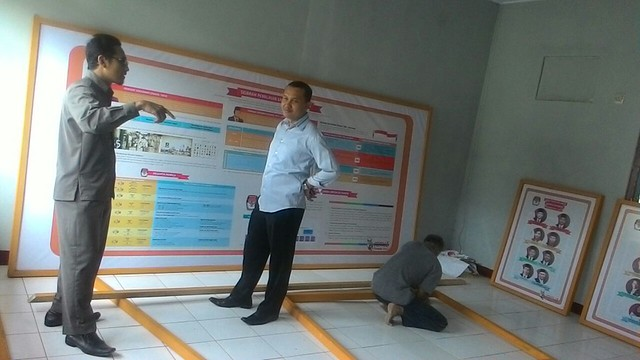 Komisioner KPU Tulungagung tengah mengecek kesiapan RPP Reyog Kendhang