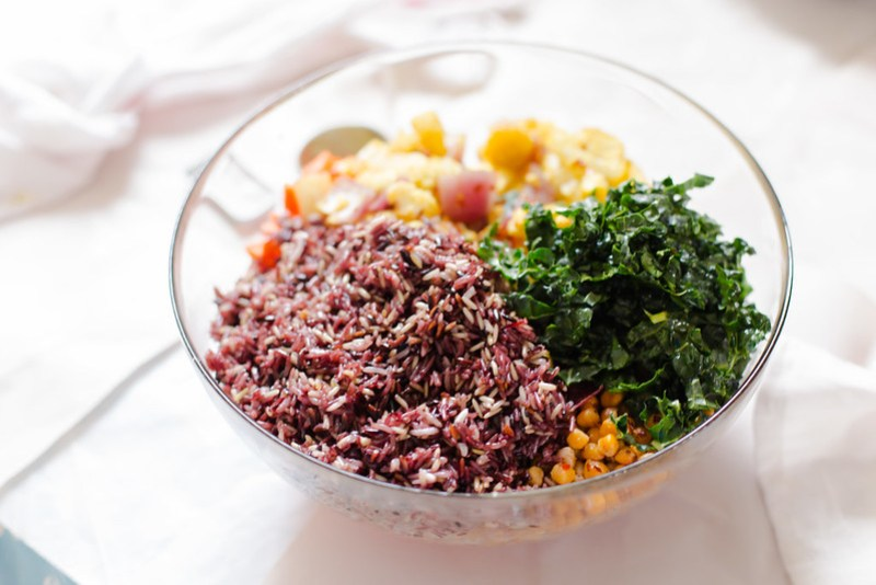 Rice Medley Salad with Roasted Chickpeas   the whinery
