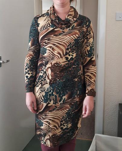 Renfrew cowl dress