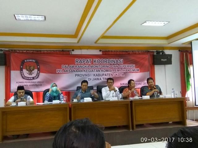 Susana rakor monitoring dan supervisi pelaksanaan kegiatan KPU (9/3)