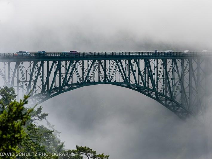 Image result for Deception Pass Bridge in fog