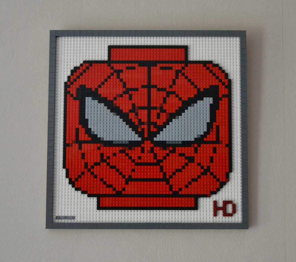 LEGO Mosaic Spiderman   A LEGO     mosaic of the head of the LE      Flickr LEGO Mosaic Spiderman   by hd lego LEGO Mosaic Spiderman   by hd lego