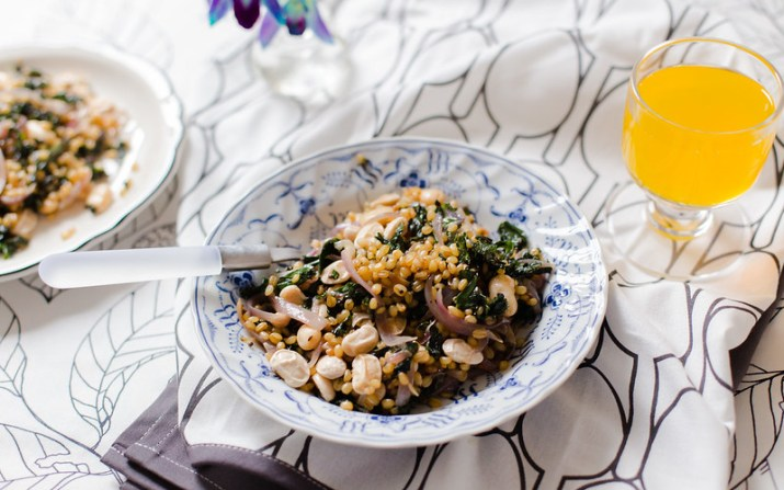 Wheat Berries, Kale and Butter Beans