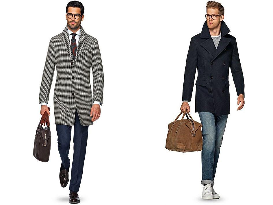 Los abrigos masculinos para los altos deben ser hasta la rodilla y llevar blazer, bombers para hombre o chaquetas