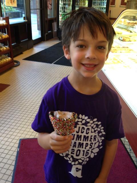 Shugie at Graeter's Ice Cream, Cincinnati OH