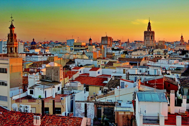 Valencia, from Torres de Serrano