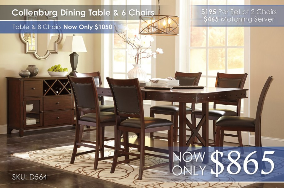 Collenburg Dining Collection D564-32-124(6)-60-R400821