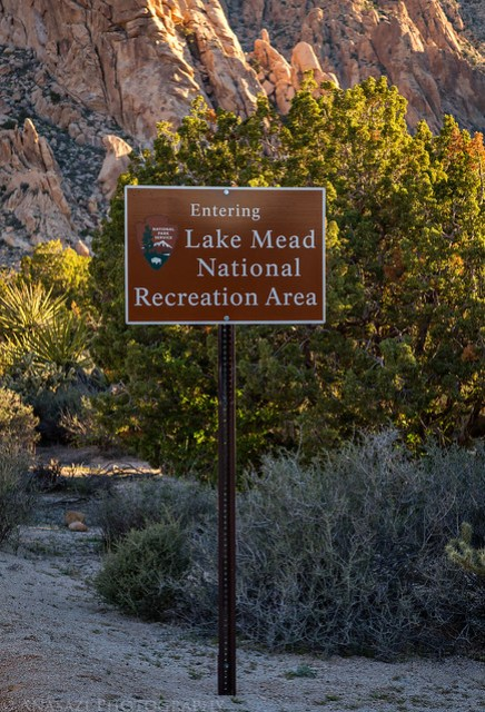 Entering Lake Mead National Recreation Area