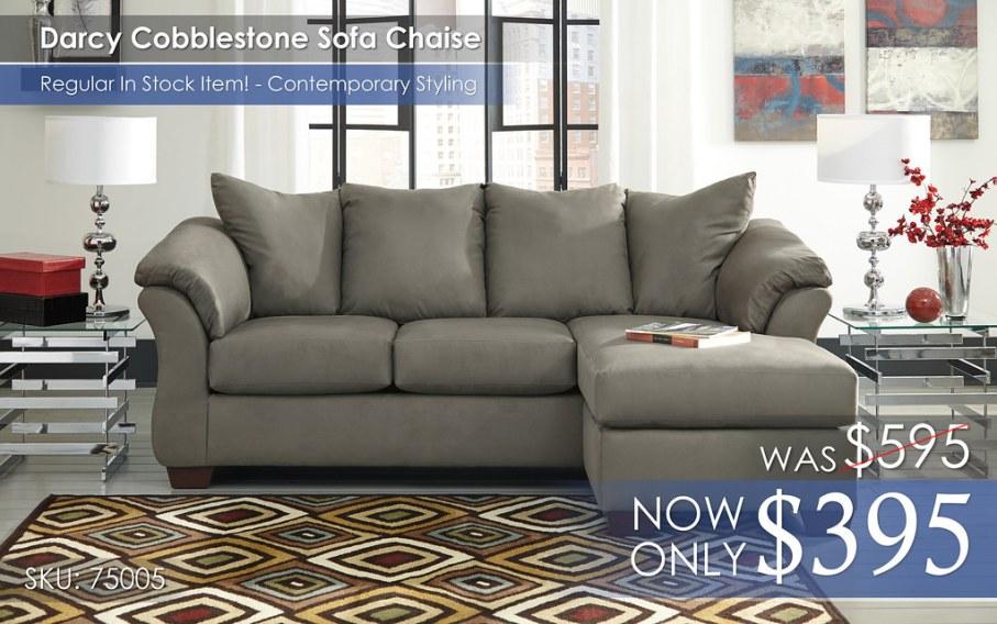Darcy Cobblestone Sofa Chaise 75005-18