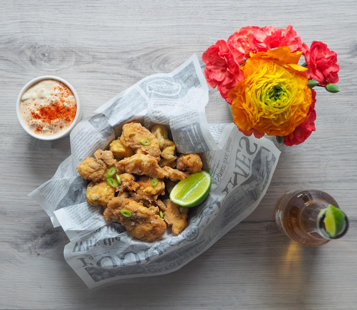 popcorn oysters