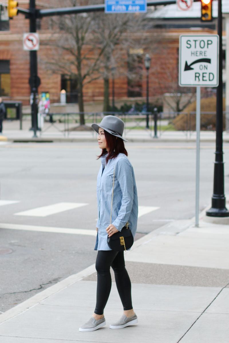 button-down-shirt-spanx-faux-leather-leggings-vionic-shoes-sneakers-4