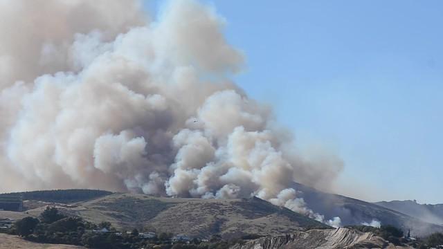 Port Hills burning