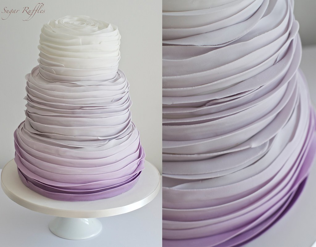 Purple Ombre Wedding Cake   Charlotte   Flickr     Purple Ombre Wedding Cake   by Sugar Ruffles