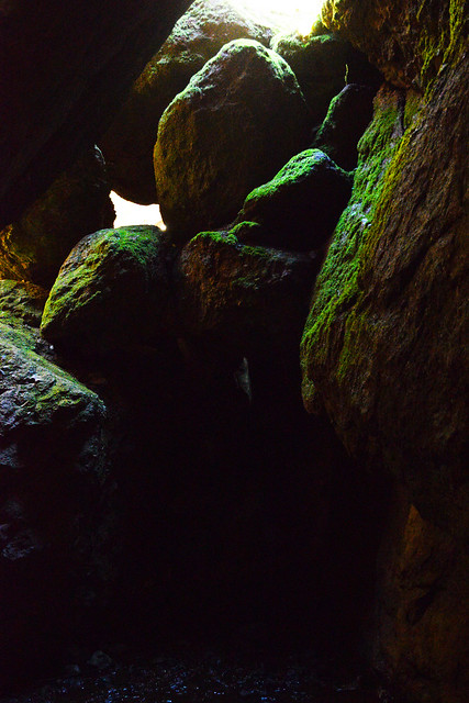 Talus Rock Roof Inside Bear Gulch Cave