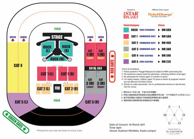 EXO'rDIUM in KL Seating Plan