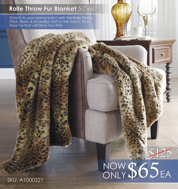 Rolle Fur Throw Blanket A1000221
