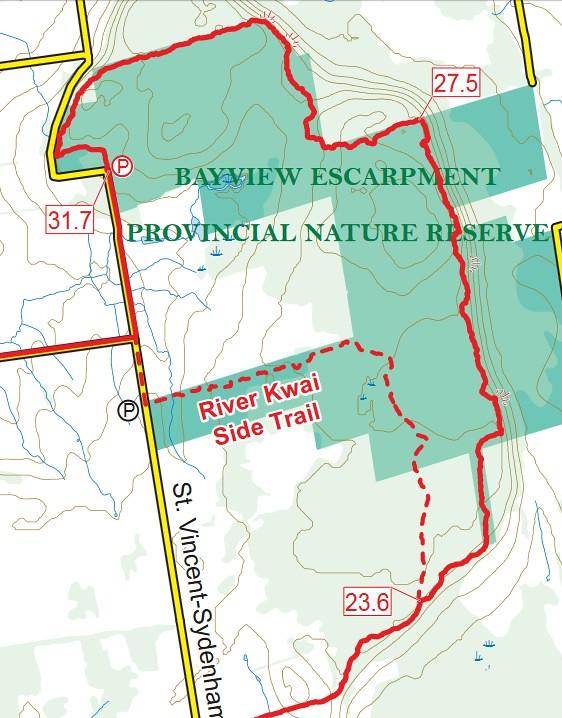 Bayview Escarpment Trail Map