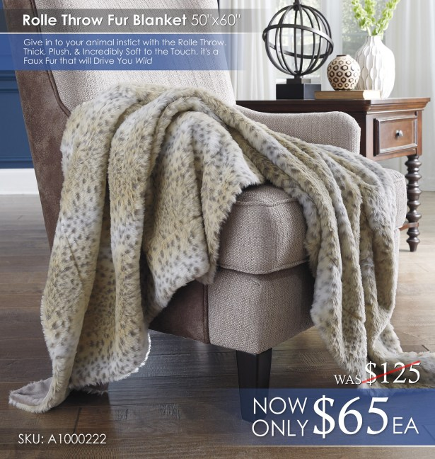 Rolle Fur Throw Blanket A1000222