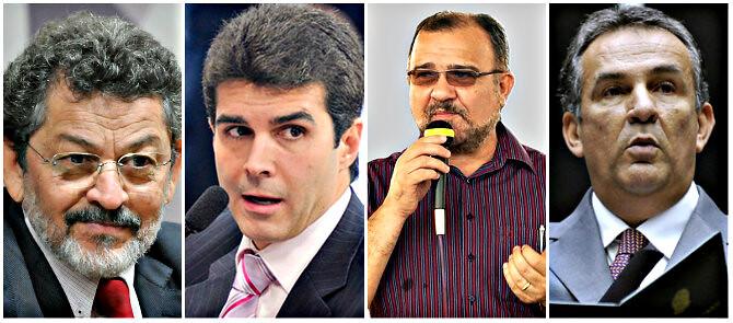 Rocha, Helder, Salame e Luiz Otávio