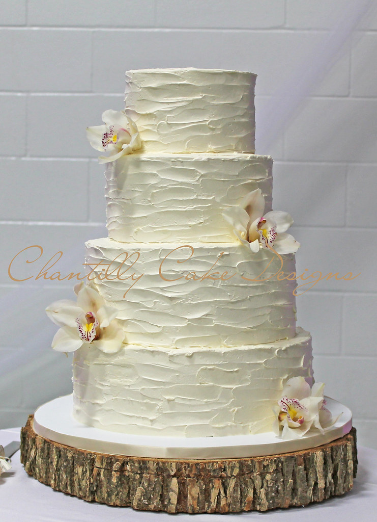 Rustic Buttercream Wedding Cake   12  10  8  6    Beth   Flickr     Rustic Buttercream Wedding Cake   by cakespace   Beth  Chantilly Cake  Designs