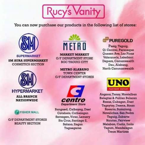 Rucys Vanity PH Branches