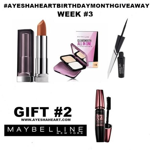 AyeshaHeart Birthday Month Giveaway WEEK3B