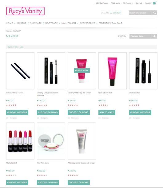 Rucys Vanity PH online store