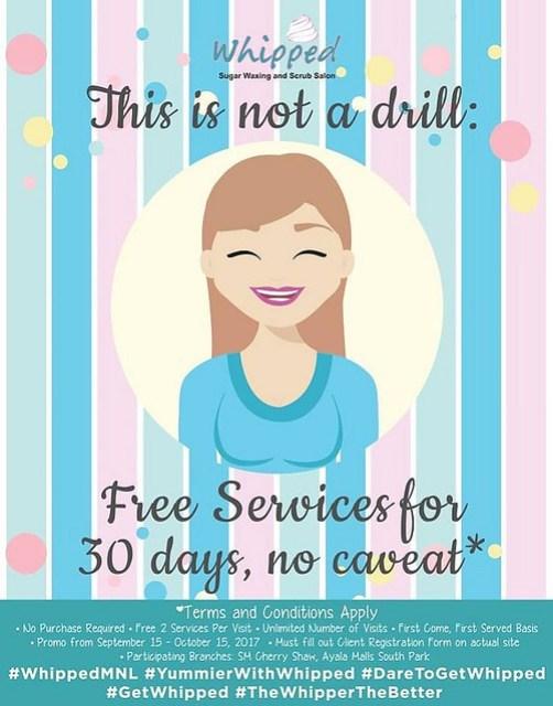 Whipped Sugar Waxing and Scrub Salon 30 Days Promo