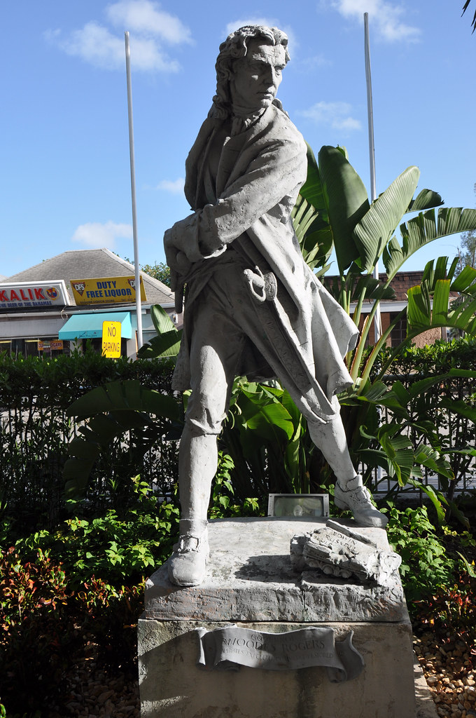 2010 Woodes Rogers Statue Nassau Bahamas Statue In