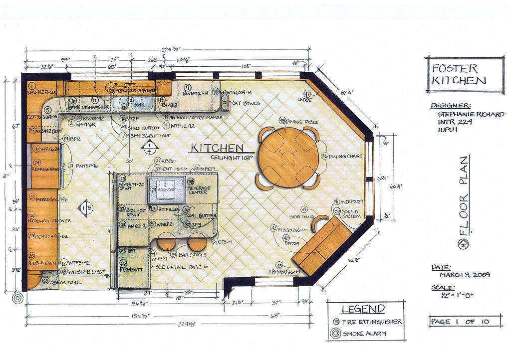 Foster Kitchen Design-Floor Plan