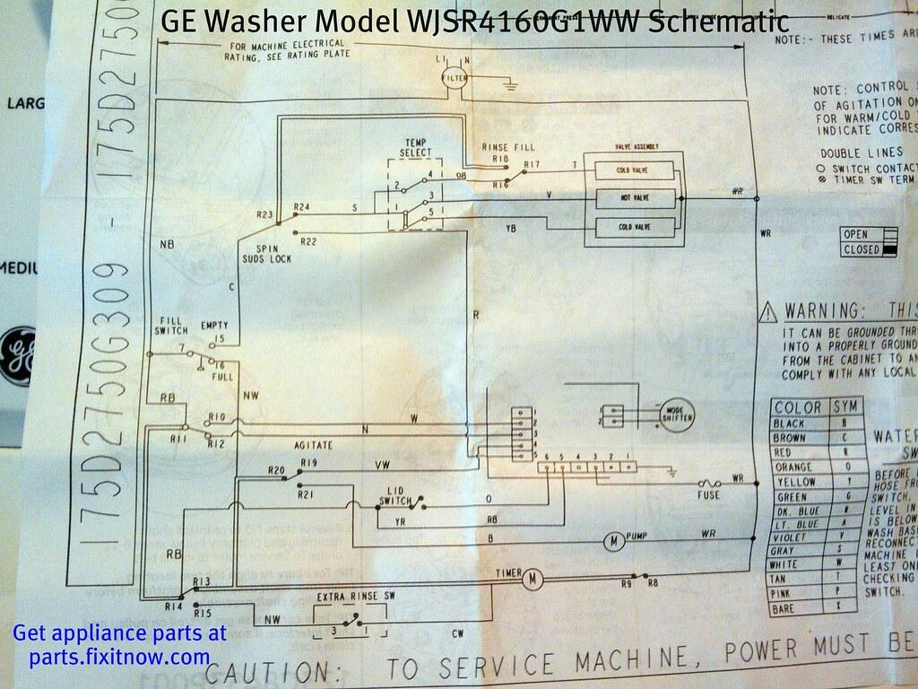 Ge Washer Model Wjsr G1ww Schematic