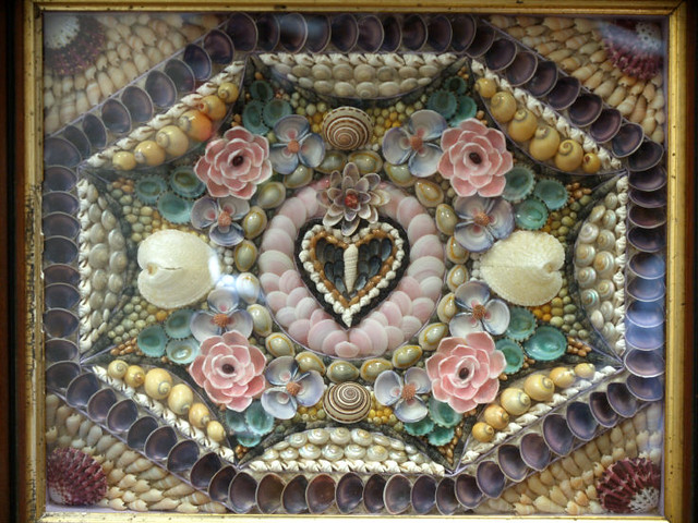 Antique Sailors Shell Art Valentine In The 1800s