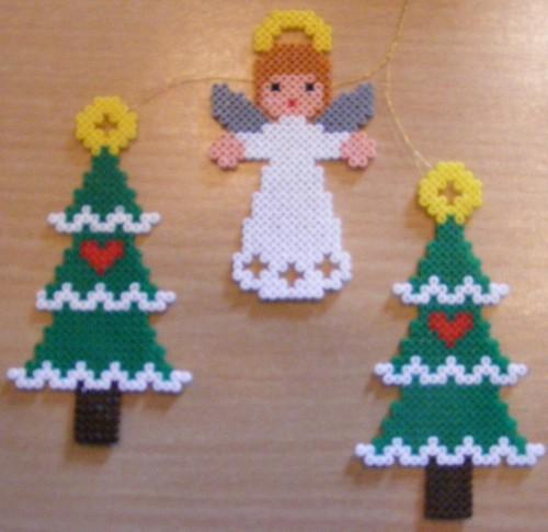 Christmas Trees And Angel Hama Design Vivi Elsborg
