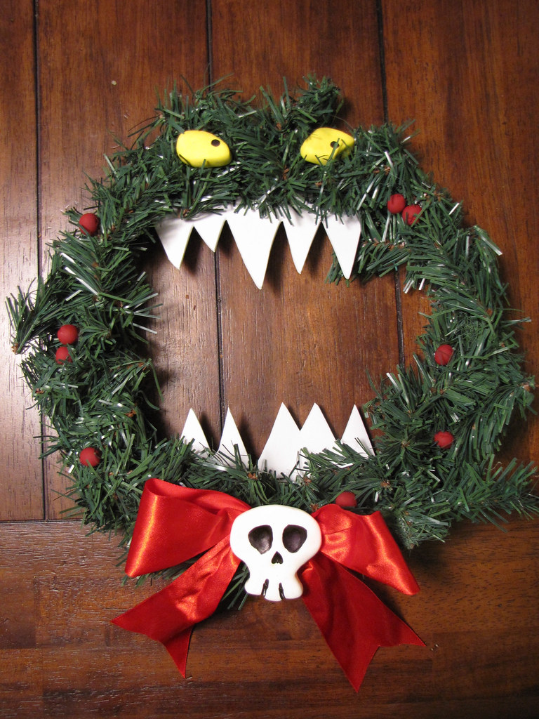Nightmare Before Christmas Killer Wreath Made From A