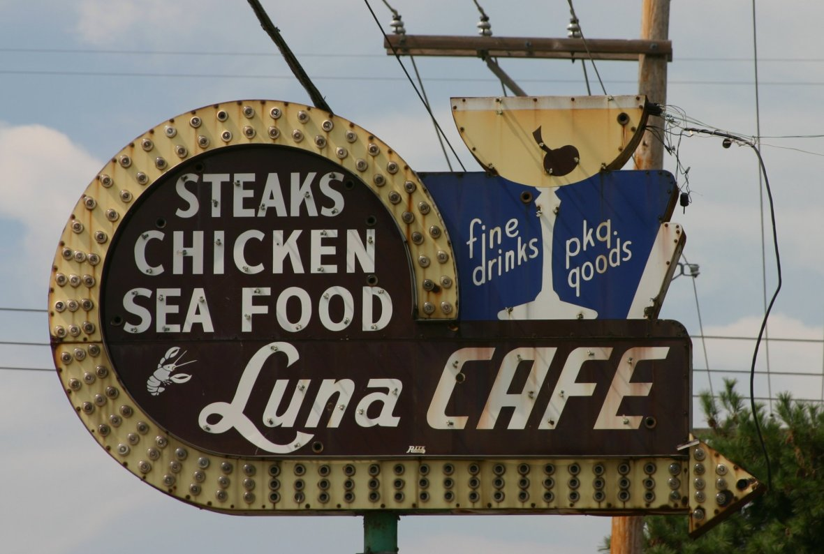 Luna Cafe - 201 East Chain of Rocks Road, Granite City, Illinois U.S.A. - August 22, 2010