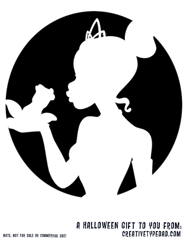 Princess Pumpkin Stencils Printable