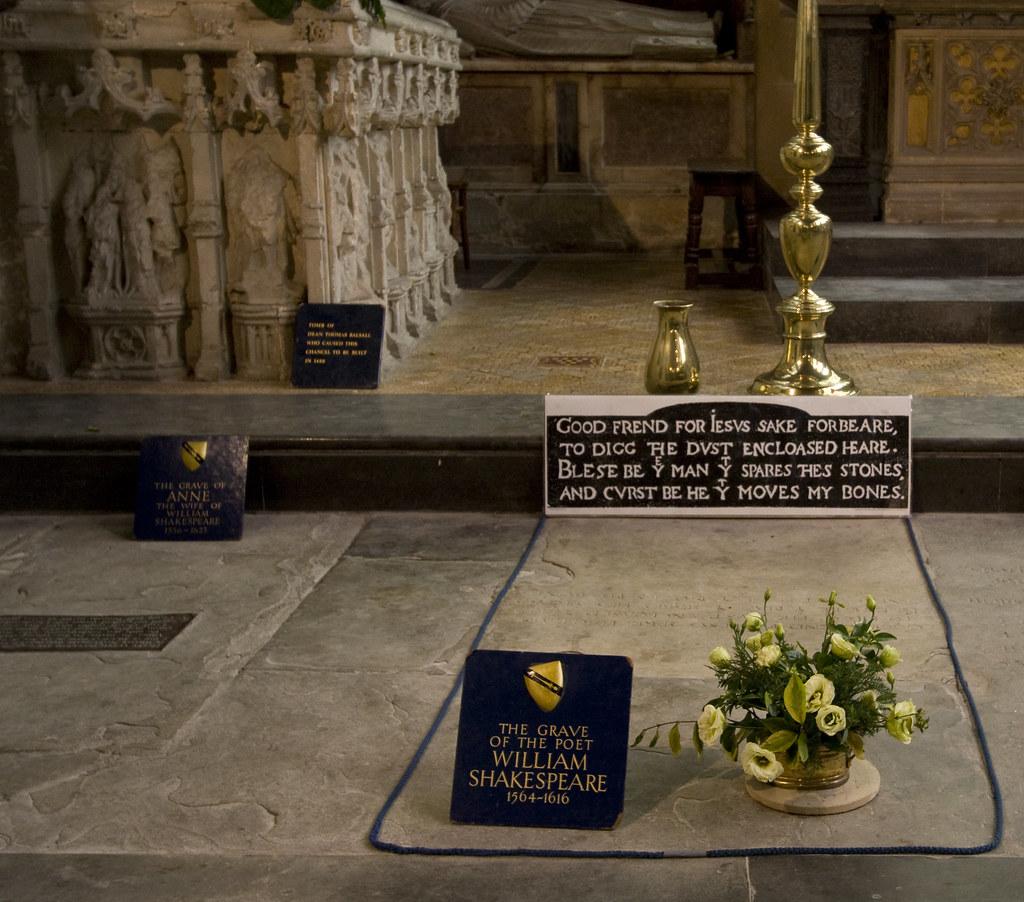 William Shakespeare S Grave William Shakespeare 1564