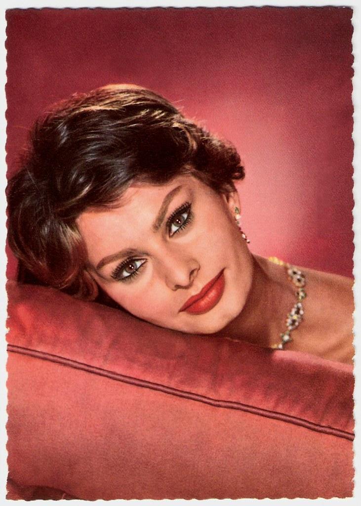 Sophia Loren German Postcard By Universum Film