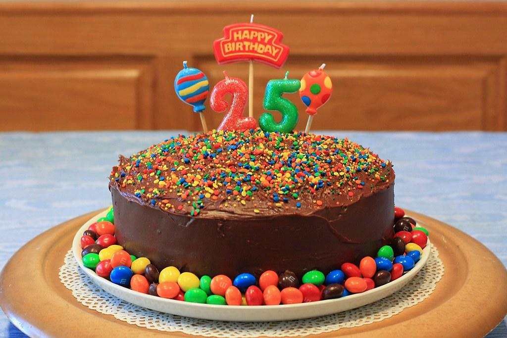 Dereks 25th Birthday Cake We Celebrated Dereks 25th