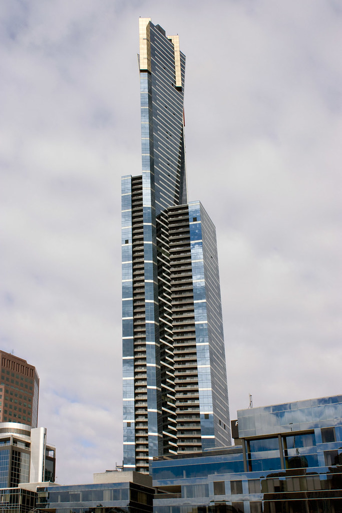Eureka Tower From Southbank Melbourne Australia Eureka