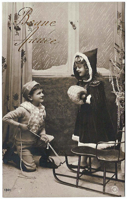 Vintage Postcards Bonne Annee 03 French Vintage