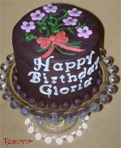 Gloria S Cake 4 Layer Mini Cake Dark Chocolate Cake