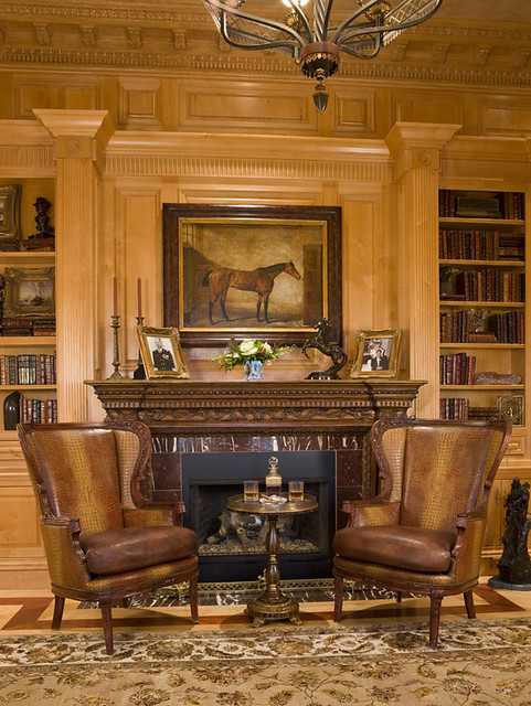 Luxury Home LibraryHome Office High End Builder Potomac