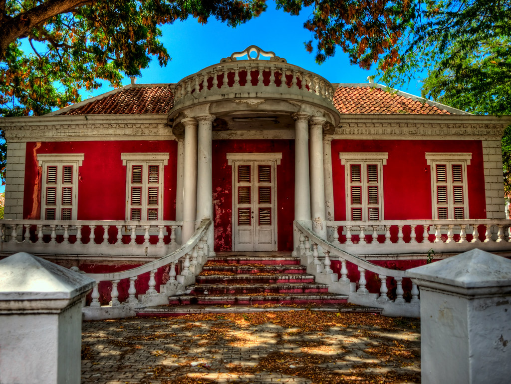 Derelict House Curacao Willemstad The Capital Of