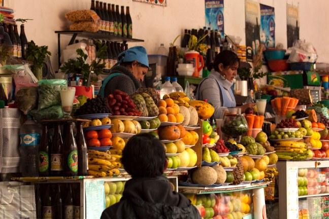 The market Sucre, Chuquisaca Department, Bolivia