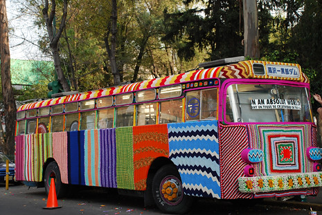 KnittaPlease At Mexico City Bus Project Courtesy Magda Say Flickr