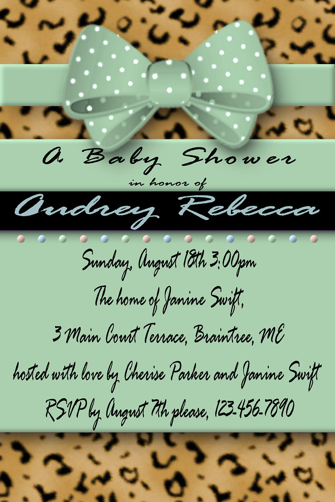 Baby Shower Invitations 3d