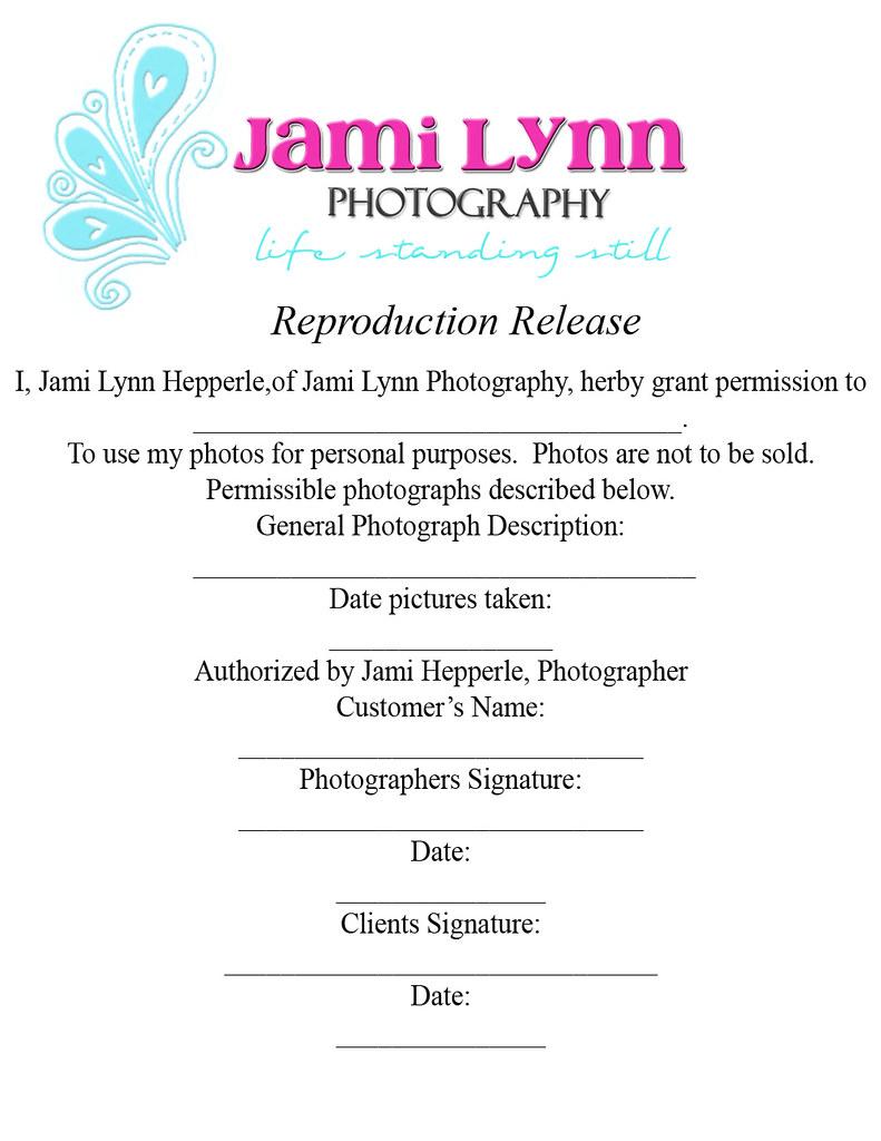 Copyright Release Form Paper Size Jami Hepperle Flickr